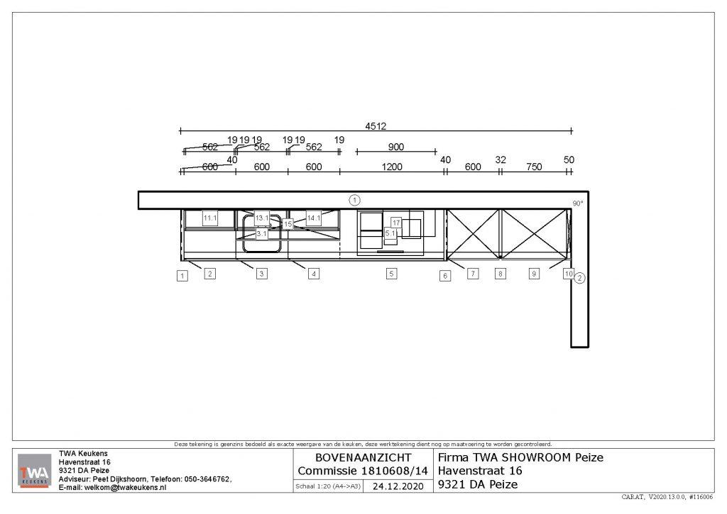 Online keuken verkoop model 5 TWA Peize